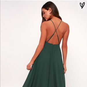 Lulus Green Formal Maxi Dress